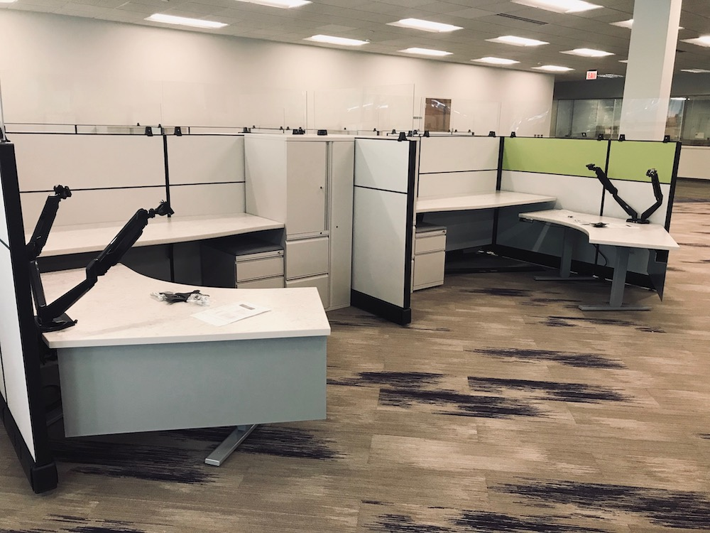 You can configure refurbished office furniture