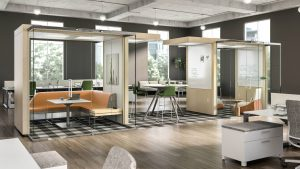 private spaces for modern office furniture ideas